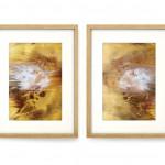 2 X L24 H32 cm Pigment, Encre, Acrylique sur papier bambou